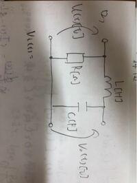伝達関数の求め方について質問です。下の画像のRLC回路の伝達関数の求め方が分かりません…どなたかわかる方いますか?