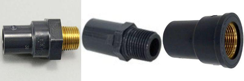 給水管のソケットバルブの種類について。 給水管を鉄管からHIVP管へ一部引き直す作業をしています。 使用する部材の中にある、ねじ込み式ソケットバルブについて教えて下さい。 用途としては ・鉄管の雌ねじに差し込む ・蛇口を接続する の2つを検討しています。 しかし、このソケットバルブにはネジ部分が塩ビ製のものと金色の金具のものの二種類があります。 これらの使い分けはどのようにしたら良いのでしょうか。 また接続する際は、普通の蛇口と一緒でシールテープを巻くだけで良いのでしょうか。