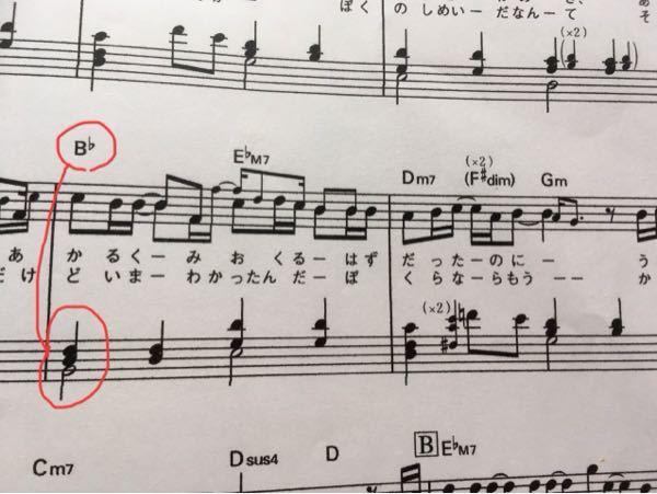 ピアノ超初心者 です B♭は赤で丸した音なんですか?