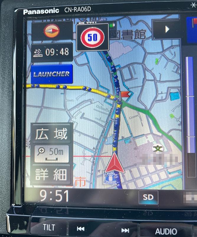今、ナビの走行軌跡を記録しているのですが、ふと 「そういえばこの状態でルート案内したらどうなるんだろう?」 と思ってやってみました。(黄色がルート案内です。) ルート案内の方が走行軌跡より下にな...