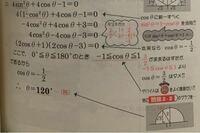 サインやコサインの範囲が−1から1に収まるのは何故ですか? 単位円で考えなければ超えることはあるのですか?  この画像のような 0°≦θ≦180°の時はなぜ範囲が−1から1なのでしょうか。半径が1だとは指定されていないのにです。