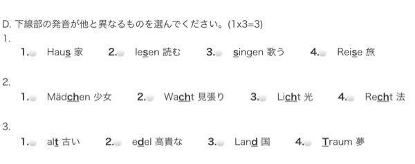 どなたかドイツ語の発音についてわかる方回答お願い致します。