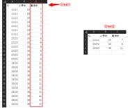 エクセルVBAにてご教授をお願い致します。 重複データの集計にて自動化をしたいです。 A列より重複データが入っております。Sheet1のC列にその重複行の数を入れ、 Sheet2にSheet1のA列の重複を削除したデータを入れたいです。 宜しくお願い致します。