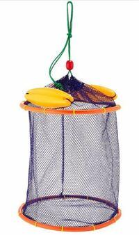 エリアトラウトなどで使う魚を入れておく網の事をなんて言いますか?