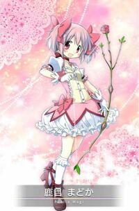 魔法少女まどかマギカの主人公鹿目まどかが使っている弓の上に咲いてる花は何の花ですか?