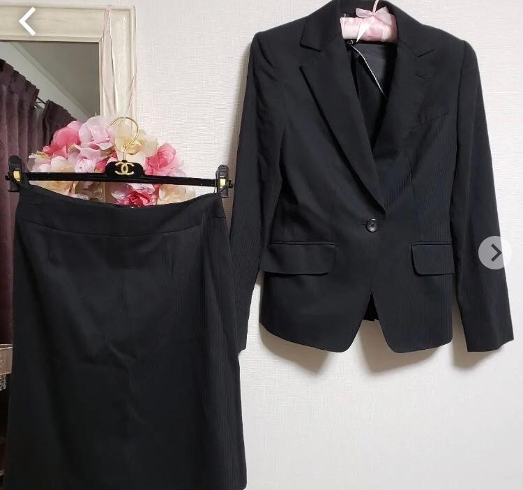 このスーツで就活できますか? 薄いストライプのラインが入っているのが気になっています…