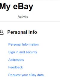 """ebayで住所変更をしたいのですが、添付の画面まで行って〝address""""をクリックすれば変更できると調べた範囲では説明してあるのですが、クリックしても反応してくれません。 何か間違えているのでしょうか。"""
