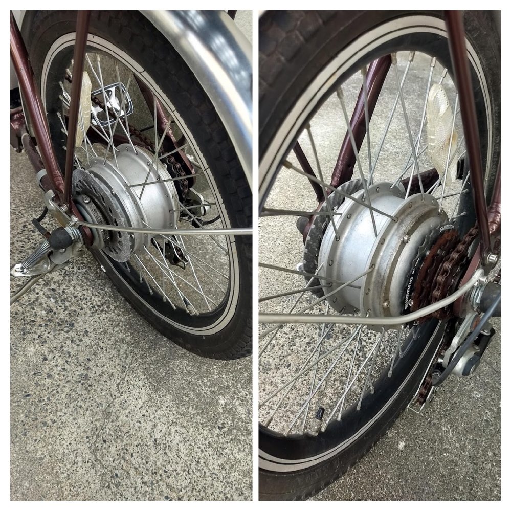自転車のスタンドについて教えてください。 写真のような、20インチ折り畳み電動自転車のスタンドを、両立に変えたいです。 どの様なキーワードで、検索したら該当の適合のものが見つかりますでしょうか。 厚みは取り付ける部分の幅は20センチほどありそうです。 ご教授、おねがい申し上げます。