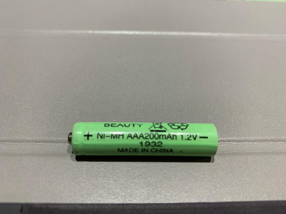 買ったソーラーライトがつかなくなったので電池交換したいのですが、画像のような電池(ニッケル水素充電池 単4形 1.2V 200mAh)が入っていました。 ネットで探しても同じ規格が見つからないの...