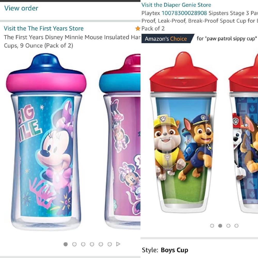 ベビー用のスパウトボトル… playtex とthe first yearsのsippy cupについて… 画像にある2種類のカップを我が家では愛用しているのですが、このボトルたちの交換valv...