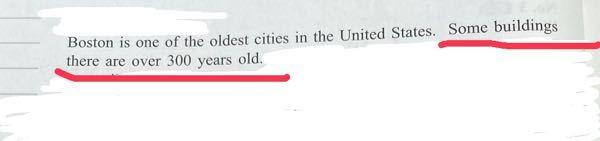 英語の質問です。この、Some buildings there are over 300 years old.の文について。意味は理解できますが、どういう文法なのか全くわかりません。教えてください。このthereは必要ないと思いました。