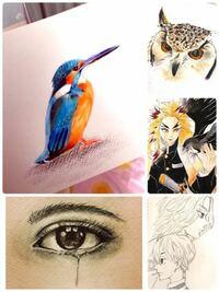21歳 女性です。 趣味程度で描いているのですが、まだまだレベルが低いですよね。 例えば色鉛筆の使いこなし方等を教えてほしいです。