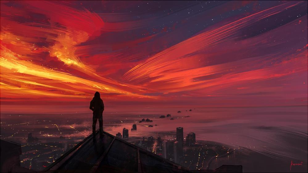 イラストレイターなどの人についての質問です。自分はすごい綺麗な風景やビル街、夜景などなどの絵を見るのがすごい好きです。日頃のストレスとかが見てて癒されます。このような絵を描く方です。 海外の方なのですが、名前も知ってるし、投稿場所も知ってます。このような絵を描いてる人ほかにいませんかね?