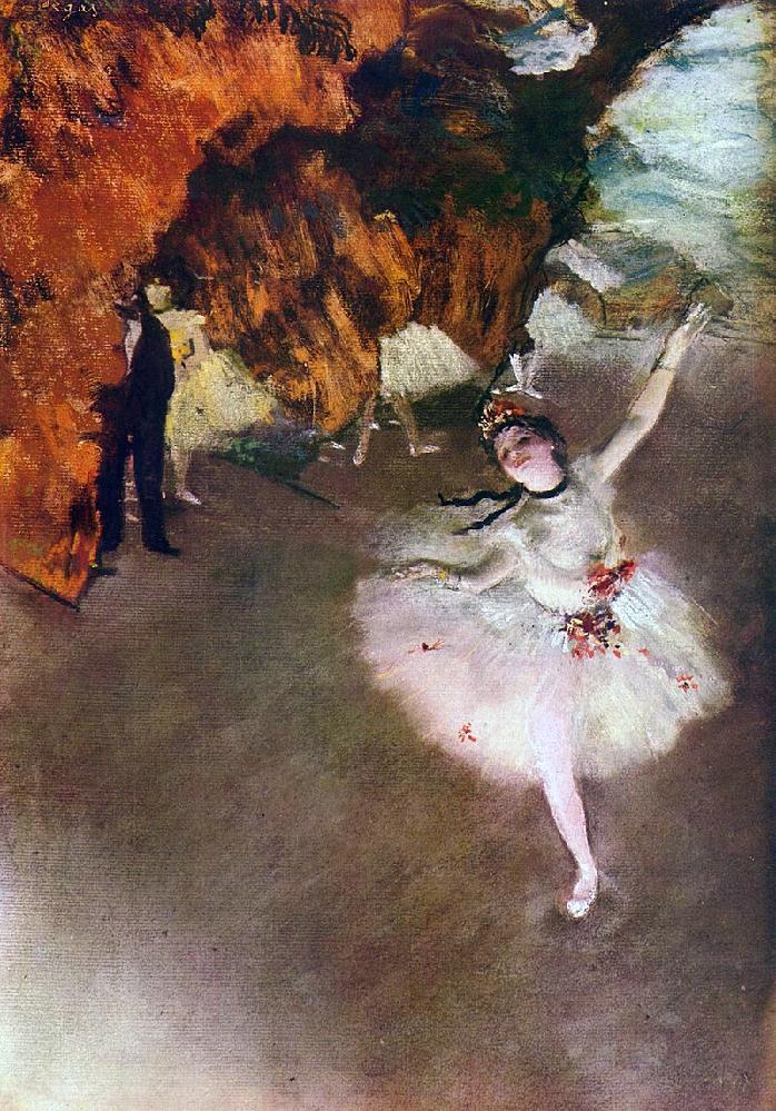 フランスの印象派、エドガー・ドガの「踊りの花形」 この絵にピッタリの曲、挙げて見て下さい!
