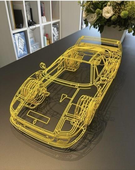シンプルな輪郭線のみで表現されたフェラーリのフィギュアは どこで販売しているのかを知りたい。