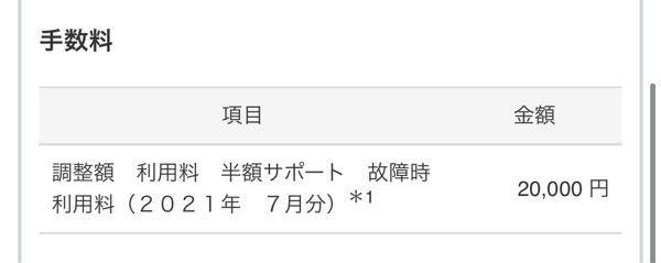 My SoftBankの手数料が今月2万引かれてるのですがこれってなんの額ですか? 身に覚えありません。