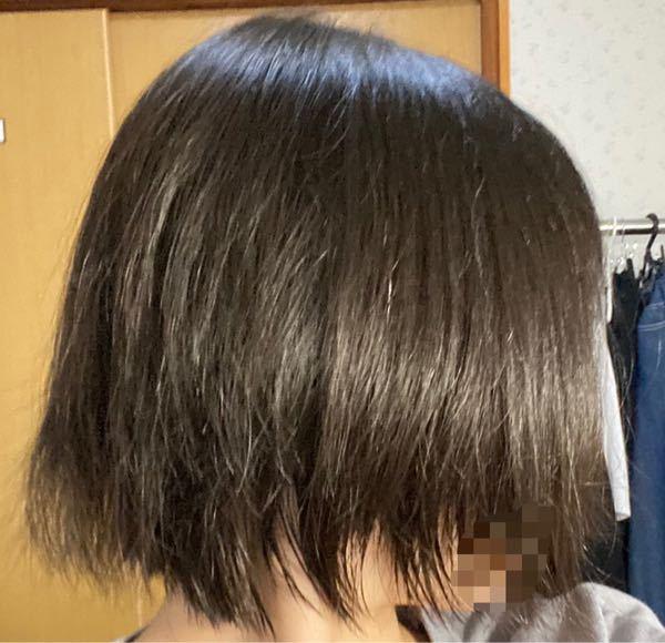 美容院で髪を空かれすぎてしまいました… ボブにして欲しいと頼んだのに毛先スカスカではねて変なんです、、。 1⃣今ギリギリ結べるくらいなのですがここからさらに切って貰った方が綺麗なボブになりますか? 2️⃣また、切るならどういう風に注文したらいいでしょうか? なりたいのは毛先ぱっつんの切りっぱなしボブです。 3️⃣髪の右側だけすごくはねるのですが対処法はないでしょうか。