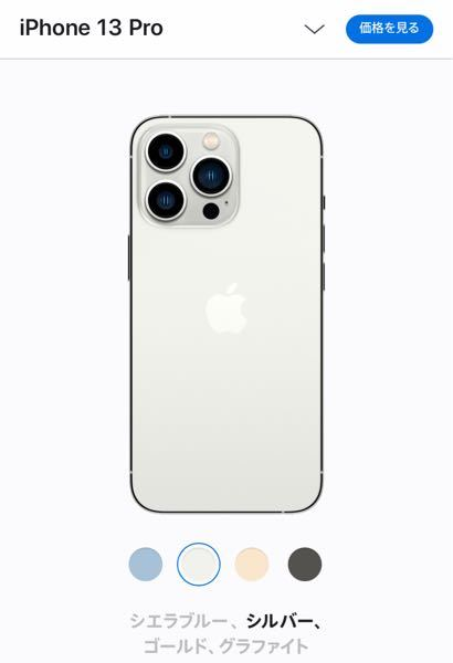 iPhone13pro 写真で見る限り シルバーは白っぽいのですが どうなんでしょうか? 白の本体を希望していました 他のiPhoneにも似たシルバーが あれば色味?分かる方おしえてください