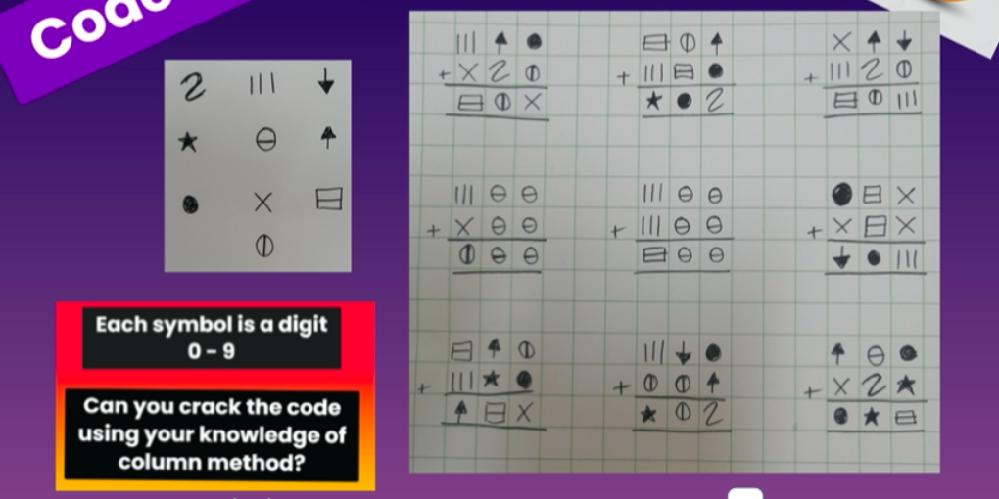 それぞれのコードの数字が何になるかいくら考えてもわかりません。 どうか教えてください。どうやってといたかも教えてもらえたら嬉しいです。 小学校2年 男子より