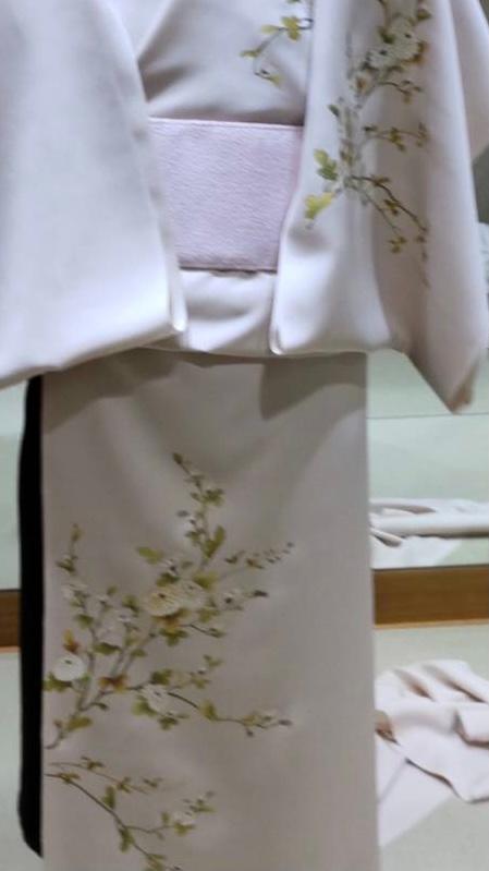お着物に関して詳しい方いらっしゃいましたらご教示下さい。写真添付した付け下げの柄、これは菊の花であっていますか?夏以外は着ることのできるお着物でしょうか?それとも柄的に、季節を問うものでしょうか? 宜しくお願いします。