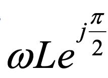 物理で実部がない「jωL」を極形式にするときに下記の写真のように角度がπ/2になるのは何故でしょうか。 教えていただきたいです。