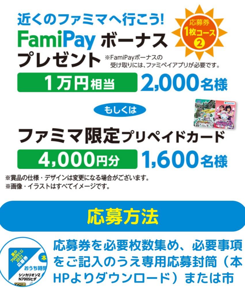 ファミマの700円クジ懸賞のプリペードカードとかの発送は終わったのでしょうか? 発送は9月中旬になってました。スマホ番号を書いた気がしますが当たりましたという電話がかかってくるのでしょうか? かなり送ったので教えてください。商品の引換えじゃなくてはずれた方の三角の部分を郵送する懸賞です。