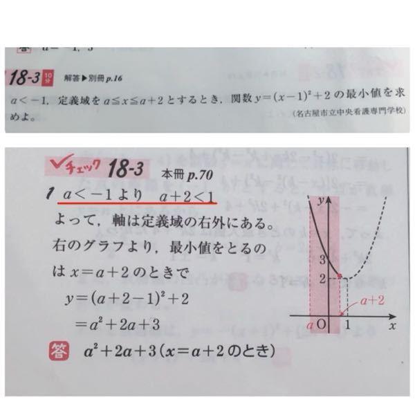 この問題の解答の赤線の部分が分かりません。 なぜこの様になるのか教えて下さい