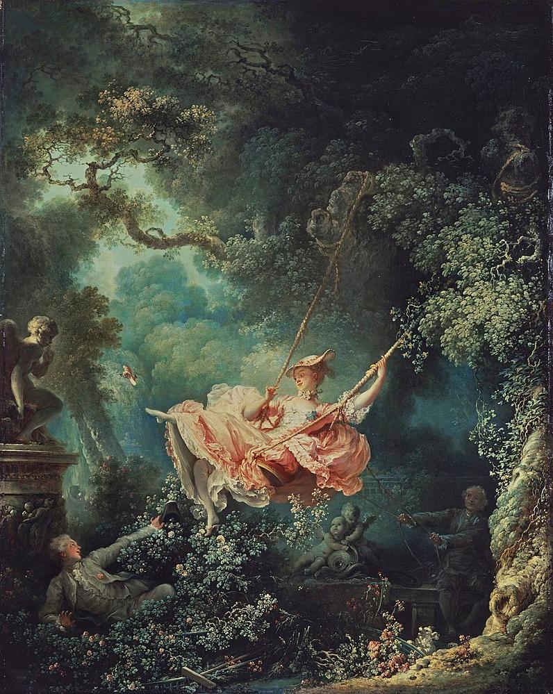 18世紀フランスの画家、フラゴナールの画いた「ブランコ」。 この絵からイメージする曲、ピッタリだと思う曲を挙げてみて下さい。