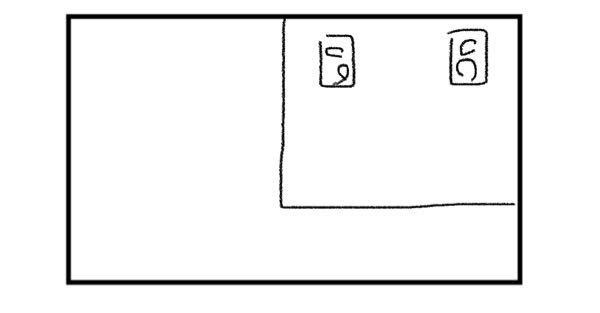 DTMについて。 写真のような長方形の本格的防音室(8畳)の中でDTMをするのですがモニタースピーカー周りの吸音材について教えて欲しいことがあります。 絵にある場所にモニタースピーカーを置き四角...