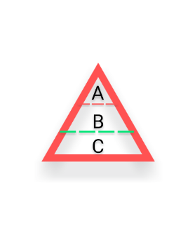 理科についてです。 下の図みたいなピラミッドで生態系の保たれ方的なのを習うじゃないですか。 あれってちょっと違和感ありませんか? Bが増加すれば[Aが増加する。]ということにすごく違和感を感じます。 Bが増加すると、Aたちが肥満にはなりそうですが。。