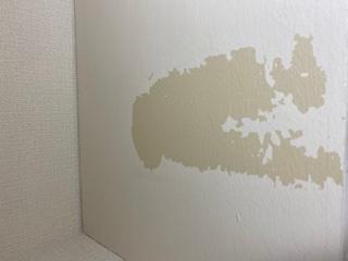 現在、賃貸のマンションに住んでいます。 トイレの備え付けの棚の上にティッシュの袋を置いていたのですが、取る時に画像のように20cm×10cmくらいの塗装が剥がれてしまいました。 退去時に費用は請...