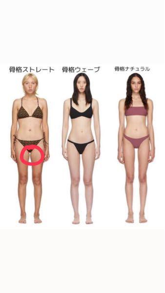 体型についての質問です。 私は骨格ストレートで写真の方と同じ体型です。 赤い丸で囲ってある内もものポコっとした所を無くしたいです。 そのために筋トレをしたのですが、無くなるどころか、筋肉がついて...