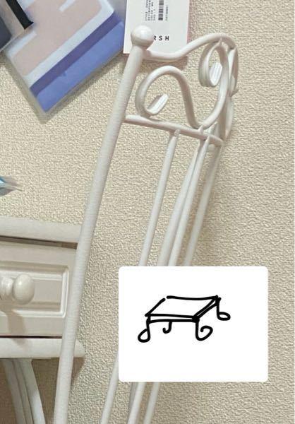 イラストのような白色のローテーブルを探しています。 写真のようなグルグルしたものです。 検索用 家具 家電 インテリア ニトリ IKEA