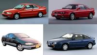 (車好き向け質問)レースゲーの車種で画像みたいなの探してます。 パッとしなかった90sのスポコンやセクレタリーカー的なクーペでゲームに登場した車種ってどれくらいありますっけ?二代目ピアッツァとかルキノクーペとかサイノスとか。  サイズ的にはセリカより小さいクラスです。全長4.3メートル以下くらい。  三菱エクリプスとかヒュンダイクーペとか一般にスポコン扱いの車だとデカすぎます。クーペ...