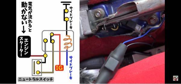 どなたか電装系に詳しい方アドバイスください 当方エーモンのコンパクトリレーを使用しニュートラルスイッチを自作し取り付けていますが、 サイドブレーキ青線の先にスピードメーターが付いています。 サ...