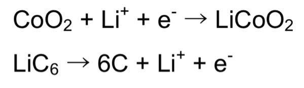 充電可能なリチウムイオン電池は日本で開発された。 リチウムイオン電池の標準起電力は3.70Vである。この問題では、カソードとアノードでの半反応は下記の画像(上側がカソード、下側がアノード)に示す...