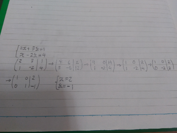 連立方程式を下の写真のように解けたら、かっこいいですか。自慢できますか。