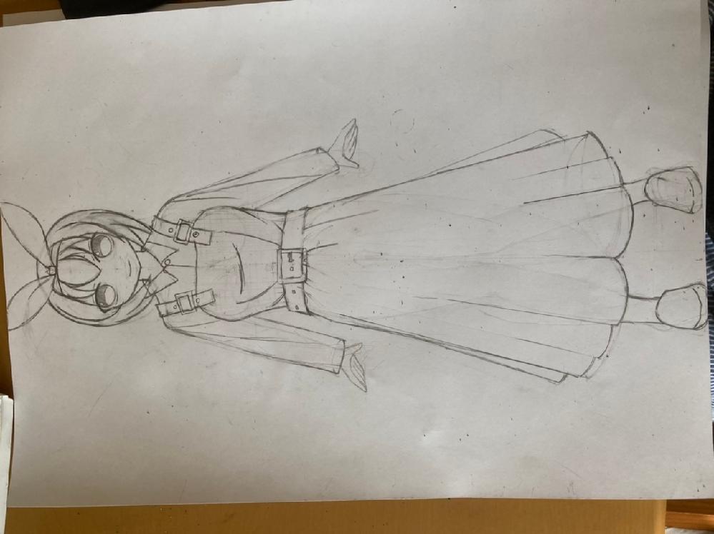 アニメのキャラクター設定みたいな絵を描きました。おかしなところが有ればおしえてほしいです。