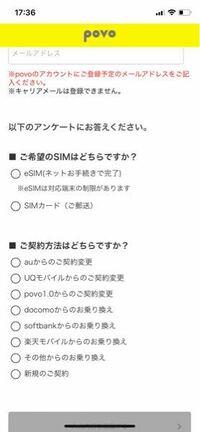 auのpovo2.0について。今はiPhone11pro使ってます、画像の2種類のSIMカードあるけどどれがいいの?