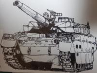 戦車の絵を貰いました。もしこの戦車の名前がわかる方がいれば、戦車の名前を教えてください。