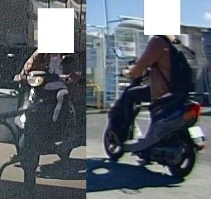 【画像参照】この原付きバイクはどこのメーカーで何という名前でしょうか? 白色ナンバーなので、50ccかと思います。