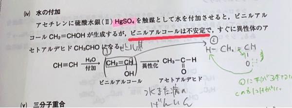 有機化学です どうしてビニルアルコールは不安定なのですか? まだ有機を始めたばかりなので簡単な説明をお願いいたします(^◇^;)