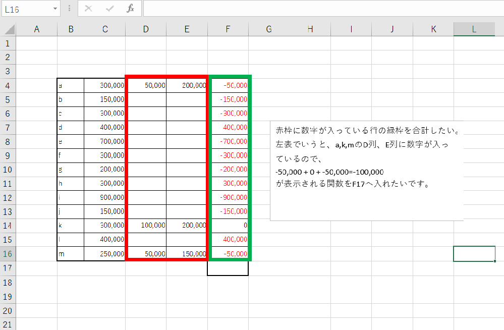 エクセルで、上手い関数が入れられません。どなたか、お詳しい方、ご教示ください。 入れたい関数については、画像の通りです。