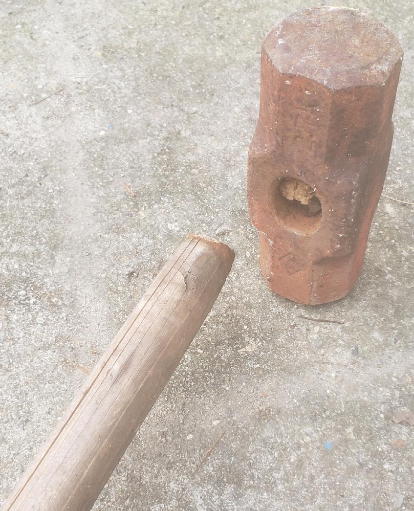 大ハンマーが 付け根から 折れてしまったのですが Diyでも直せるでしょうか? 宜しくお願いします。