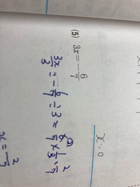 この方程式の問題を詳しく教えてください お願いします あ青で描いてるのは気にしないでください答え見てもわからなかったので