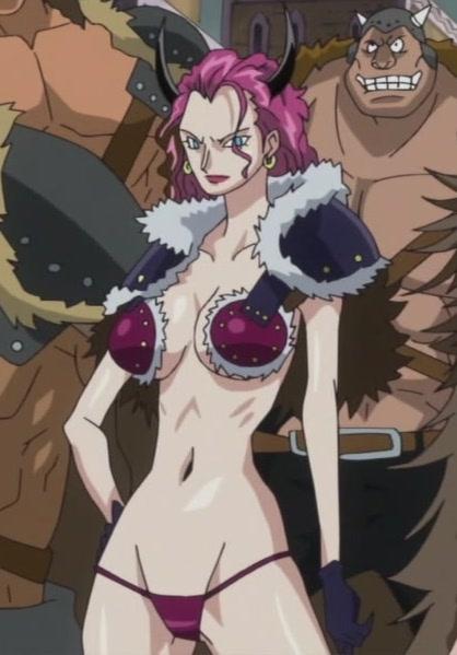 アニメ・ワンピースに詳しい方に質問です。 この痴女の名前を教えてください。