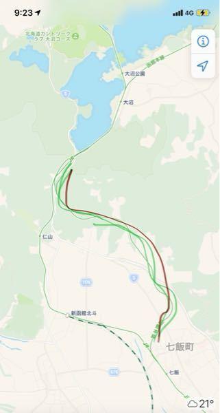 函館本線で、右側のルートを走る列車はある?