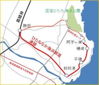 ひたち海浜鉄道がひたち海浜公園まで延伸するそうですが、ひたち海浜公園から勝田までさらに延ばして環状線にする可能性はありますか? ↓