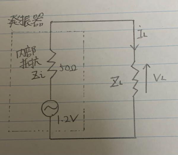 ZLが∞、250、50、10、0ΩのときのIL、VL、PLそれぞれの値を教えてください。
