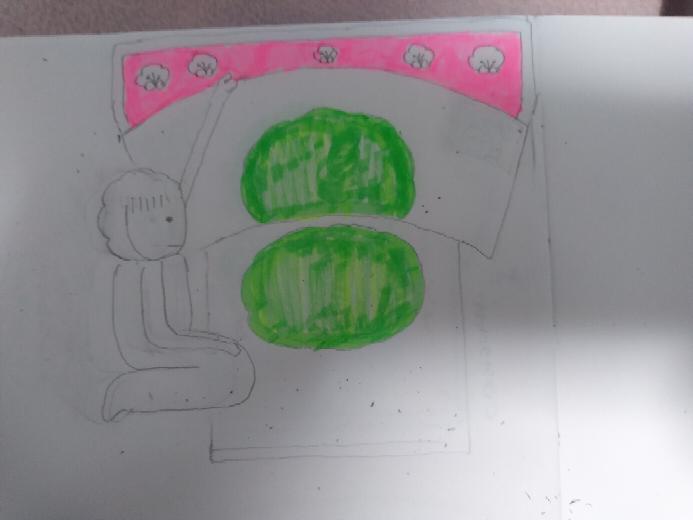 幼いときにおねしょしちゃったときのことを雑に描いてみました。おしっこの色も近いですか?